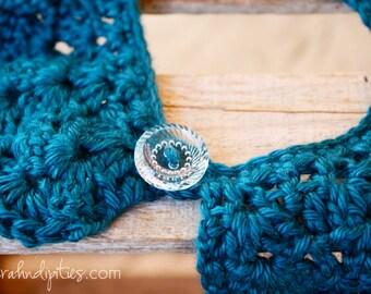 Crochet Collar - Detachable - You Choose Color