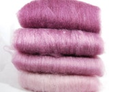 BFL/Silk Plum Ombre Spinning Batts - 4 ounces