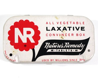 Vintage Nature's Remedy Laxative Tablet Tin