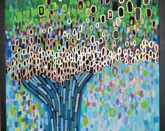Dreaming Tree, original abstract painting
