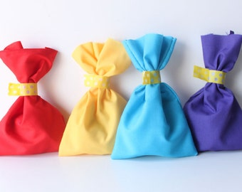 WIGGLES Inspired Party Favour Bags -wiggles theme,ready steady wiggle, wiggles party, party favour bags, multi coloured loot bags