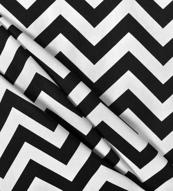 Black and White Napkins Chevron Zig Zag Napkin Set Wedding Table Centerpiece Idea Reception Black Fabric Napkins Linens