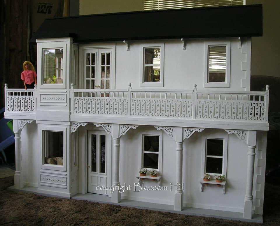 Handmade Wood Barbie Dollhouse Kit Playscale 1 6 Scale