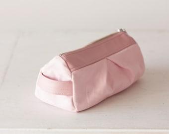 Cosmetic bag in baby pink, makeup case,accessory bag,utility case,toiletry bag - Estia Bag