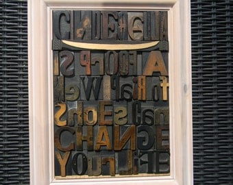 Cinderella is proof that a new pair of shoes can change your life, vintage letterpress.