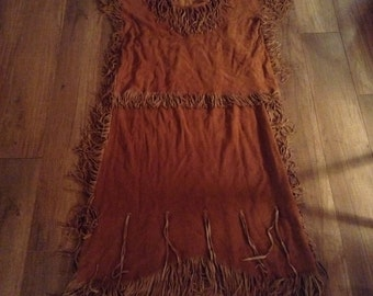 Indian Suede Vintage Costume Ready to Ship Girls 12/14