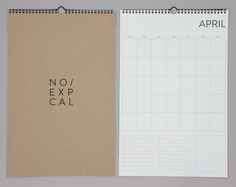 No Exp. Wall Calendar
