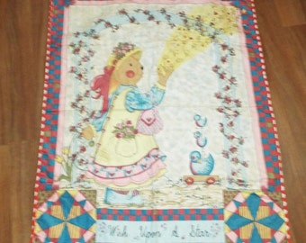 Wish Upon a  Star  Teddy Bear Themed Baby Quilt