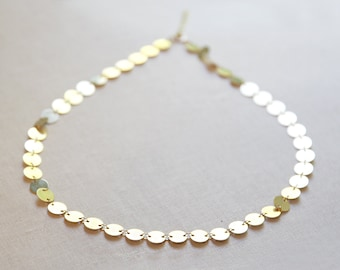 Gold Coin Necklace | Gold Circle Necklace