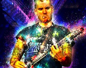 PHIL ANSELMO 13 x 19 Digital Painting Print Custom Art Rock and Roll Punk Metal Musician Mancave
