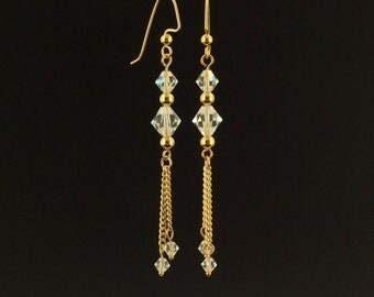 BOGO Sale - Dreaming in Crystals Dangle Earring Kit with Swarovski Crystals - Quick and Easy
