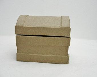 Paper mache treasure chest, small paper mache box