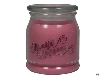 Magnolia Blossom, SOY CANDLE, Wedding Gift, Friendship Candle, Gift Candle, Natural Wax, Pink, 16oz, Apothecary, Jar