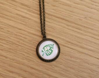 Vegan Necklace, Vegan Jewelry, Vegeterian necklace, Cruelty Free, Go vegan, Handmade Jewelry, Animals Liberation