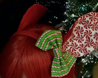 Holiday Fancy Frills Ears - Red Christmas Themed Deer