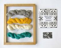 Beginner Weaving Loom Kit for Hand Weaving - Natural Finish Frame Loom