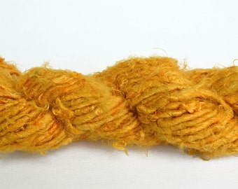Banana Fiber Golden Yellow Yarn, Fair Trade Yarn - One Skein of 65 Yards, 4 Worsted Weight