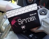 Can-am Spyder Ryder zipper pouch with Spiders and Glitter