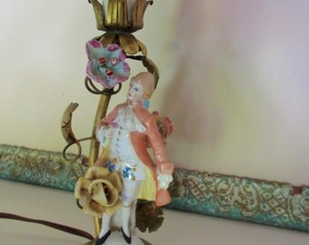 Vintage Figural French Lamp