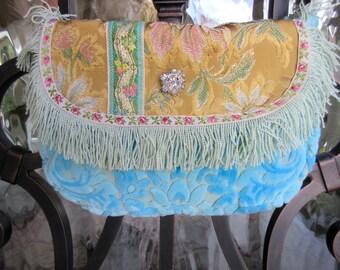 Petite Vintage Fabric Handbag, RESERVED
