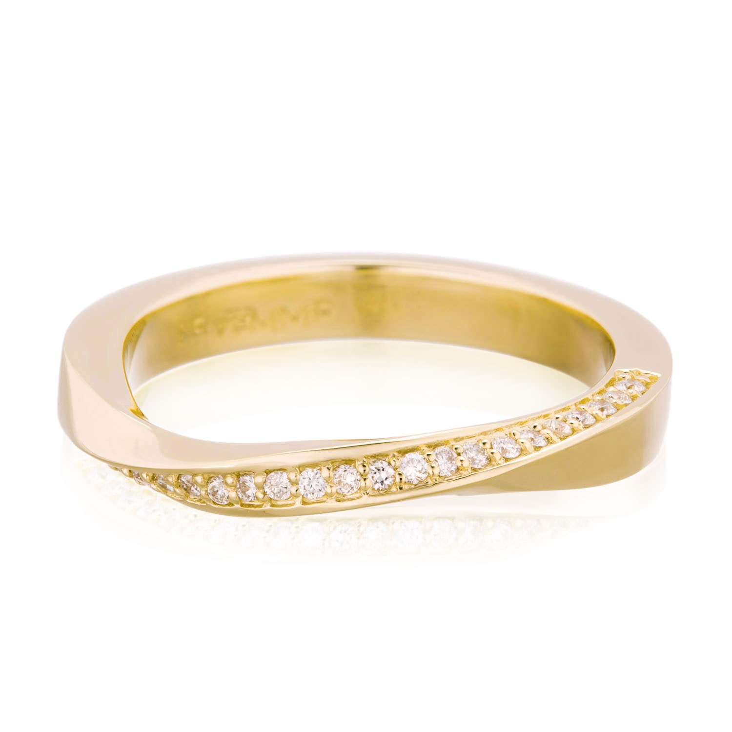 twisted wedding band 14k gold canadian mobius ring