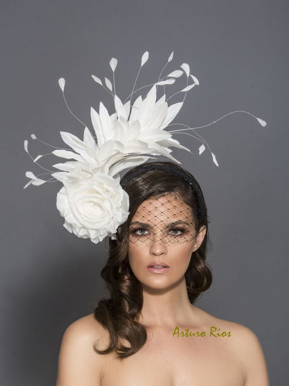 Black And White Kentucky Derby Fascinator Black And White