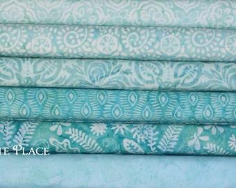 6 half yard bundle... Kate Spain  Latitude Batiks by Moda Fabrics ... Ocean colorway