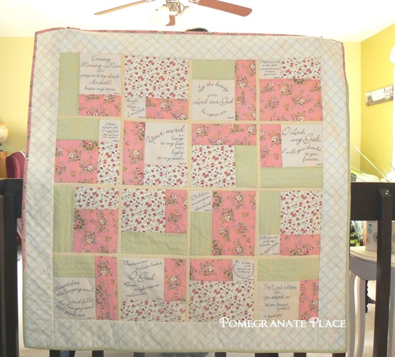 Words Of Comfort Scripture Panel For Quilting White