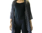 Kimono cardigan - Black and white polka dot chiffon Kimono-Gift idea-Layering piece-Many colors