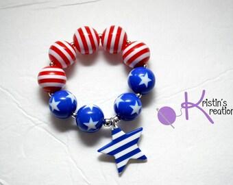 Clearance: Stars & Stripes Beaded Bracelet