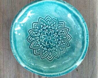 Small Boho Dish Turquoise