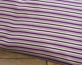 DESTASH SALE *** Purple Stripe Polyester PUL Fabric By The Yard.