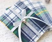 Set of 3 Plaid Fabric Gift Card Holders, Tartan Gift Card Holders, Masculine Gift Card Holder, Gender Neutral