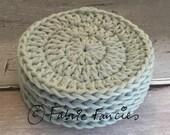 Set of 5 100% cotton crochet face scrubbies