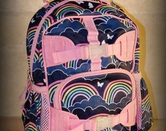 Rainbow  Pottery Barn Mini Preschooler Backpack - Monogram included
