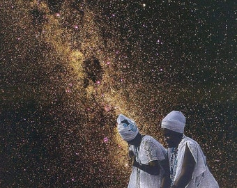 Mirlande Taming Cosmos African American Art Collage