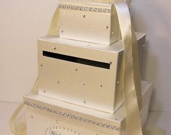 Wedding Card Box Ivory Gift Card Box Money Box Holder--Customize your color