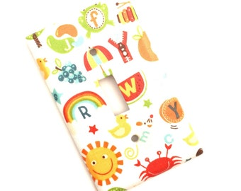 Alphabet ABC Light Switch Plate Cover