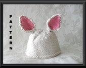 Knitted Hat Pattern Baby Hat Pattern Newborn Hat Pattern Easter Rabbit Hat Knitting Pattern Rabbit Ear Pattern EASTER BUNNY