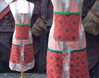 Red and Green Apron
