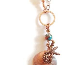 Sea Shell. Real Sea Shell. Beach Jewelry. Summer. Ocean.