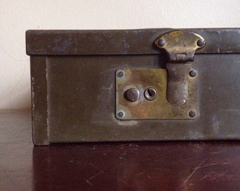 Vintage Industrial Protecto Security Box.