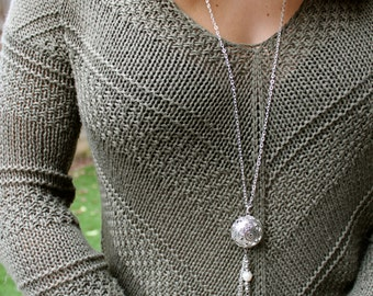 Silver Chain Statement Necklace