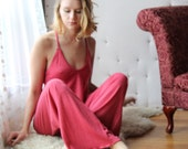 foldover lounge pants in wool sweater blend - womens lounge wear lingerie and sleepwear range MALLARD - made to order