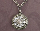 ON SALE Swavorski Crystal Necklace a Perfect Wedding Pendent