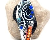 KALLISTO, New modern, Ancient MEDIEVAL, Ethnic style Beads  - Glass Art - Lampwork focal bead by Michou P. Anderson