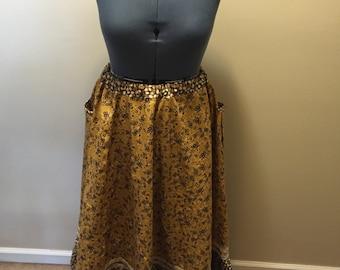 Yellow and Brown Prairie Skirt