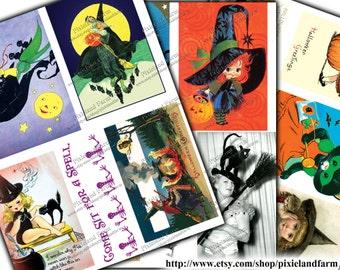 Witches Halloween Vintage Printable Digital Download