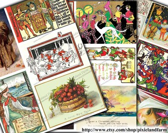 Renaissance Medieval Christmas Vintage Printable Digital Download