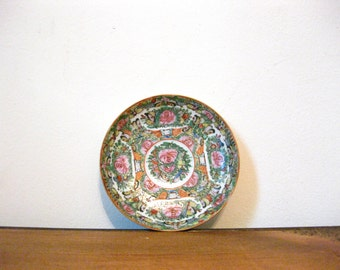 Antique Chinese Rose Medallion Famille Rose Plate 1920s 1930s